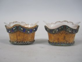 A44-26  PAIR OF RUSSIAN SALTS