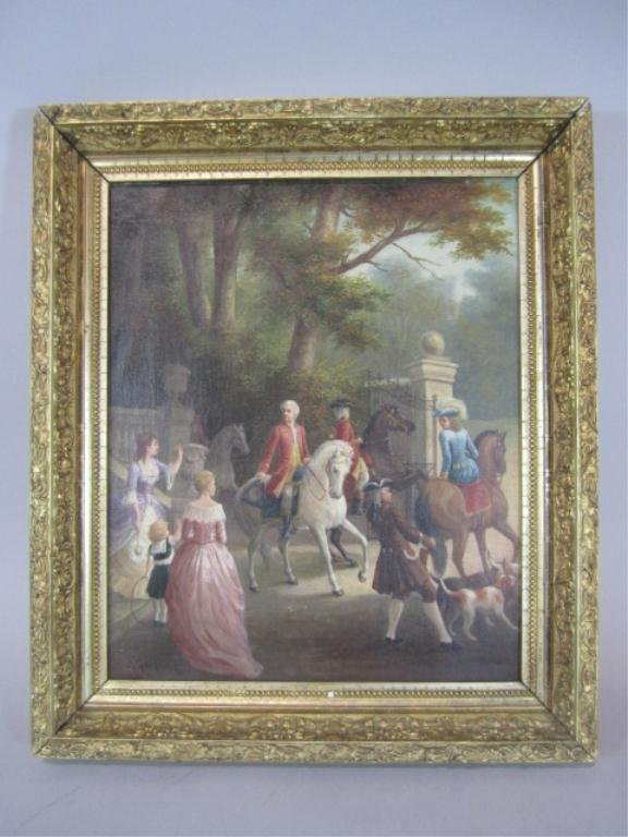A84-36 G. GENGOULT EUROPEAN OIL CANVAS PAINTING
