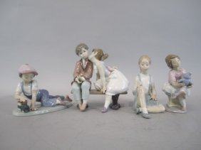 H87-1  GROUP OF 4 LLADRO FIGURINES