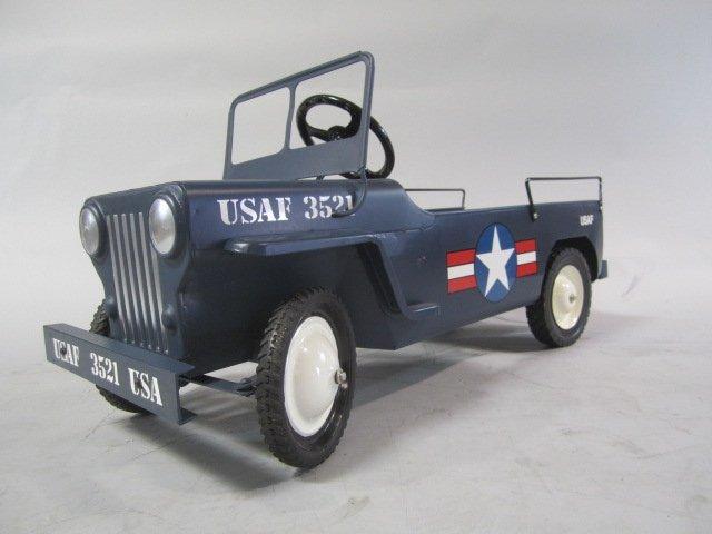 A79-8  1949 AIR FORCE HAMILTON ARMY JEEP PEDAL CAR