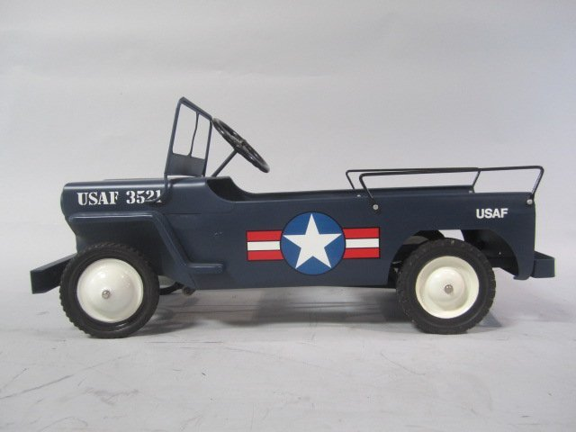 A79-8  1949 AIR FORCE HAMILTON ARMY JEEP PEDAL CAR - 2