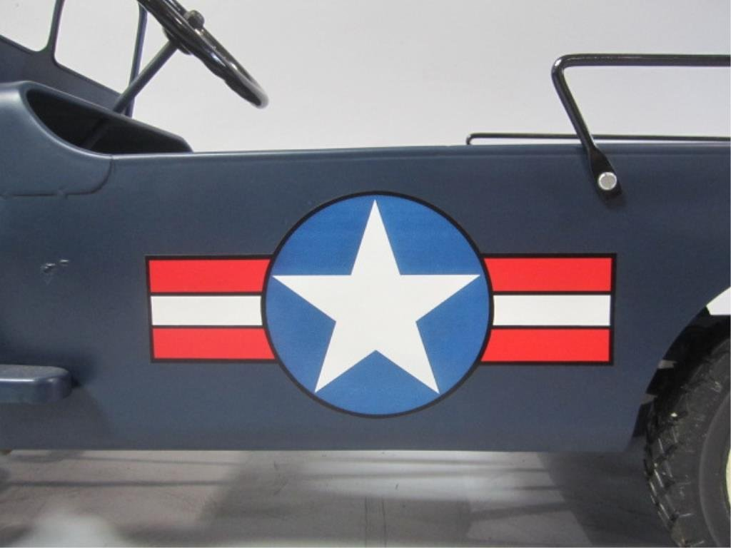 A79-8  1949 AIR FORCE HAMILTON ARMY JEEP PEDAL CAR - 3