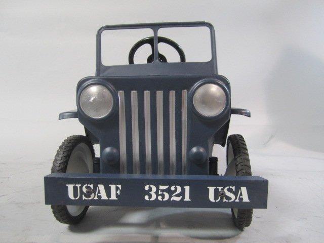 A79-8  1949 AIR FORCE HAMILTON ARMY JEEP PEDAL CAR - 4