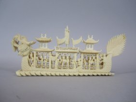 A88-17  CHINESE IVORY BOAT