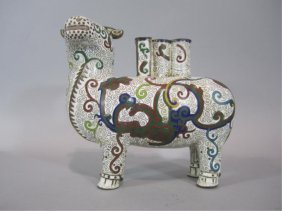 A88-36  CHINESE CLOISONNE COW