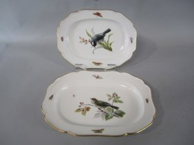 K1-9  TWO MEISSEN SERVING DISHES