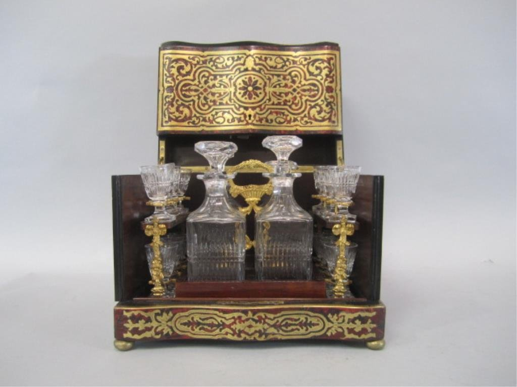 A11-2  BOULLE TURTLE SHELL LIQUOR BOX
