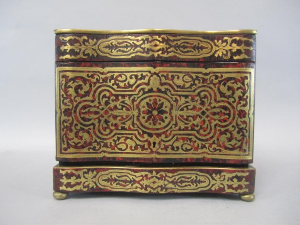 A11-2  BOULLE TURTLE SHELL LIQUOR BOX - 2