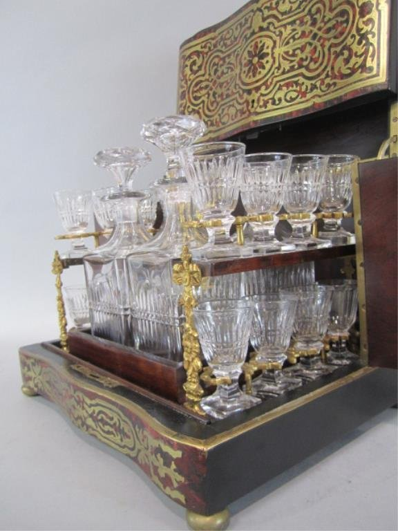 A11-2  BOULLE TURTLE SHELL LIQUOR BOX - 5