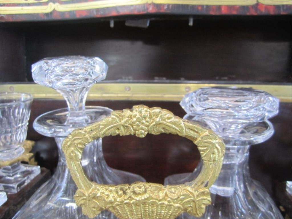 A11-2  BOULLE TURTLE SHELL LIQUOR BOX - 7