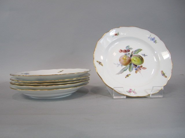 A84-7  SET OF SIX MEISSEN PLATES