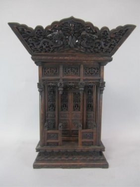 A84-11  CHINESE CARVED WOOD SHRINE