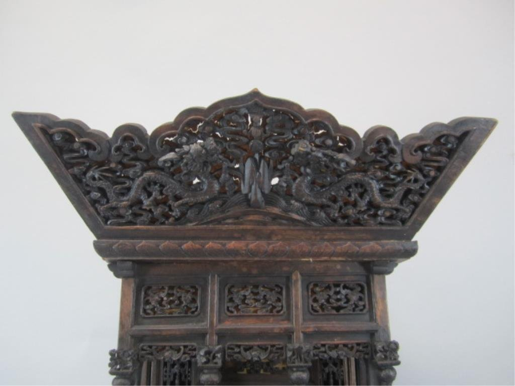 A84-11  CHINESE CARVED WOOD SHRINE - 2