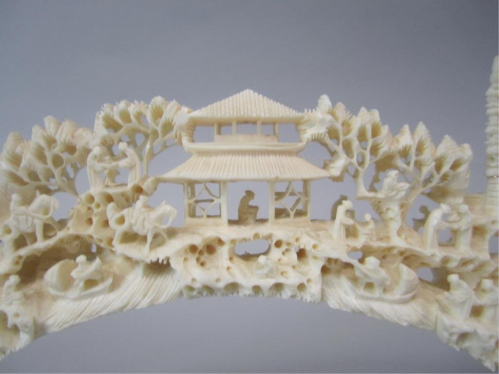 A84-32  CHINESE CARVED IVORY BRIDGE - 2