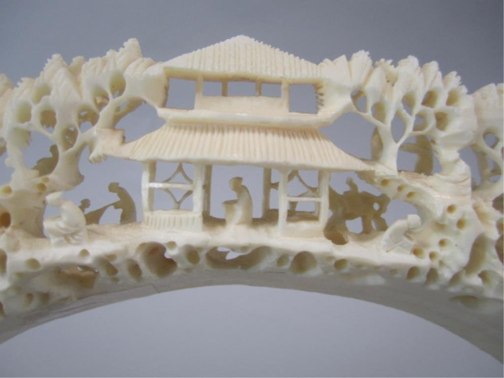 A84-32  CHINESE CARVED IVORY BRIDGE - 8