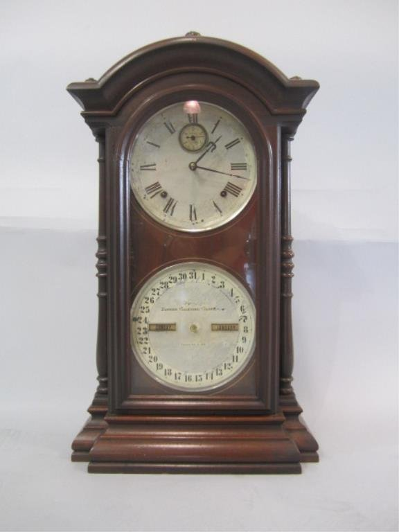 H25-26  CLOCK WITH CALENDER