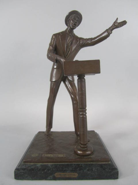 """A23-1  """"THE AUCTIONEER"""" BRONZE BY BILL WAYNE"""