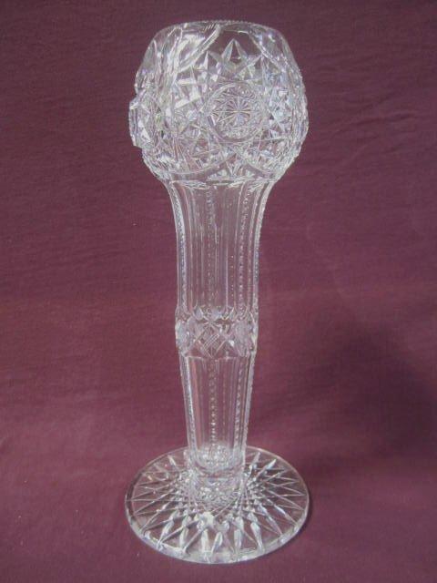 H25-5 Tall Cut Crystal Vase