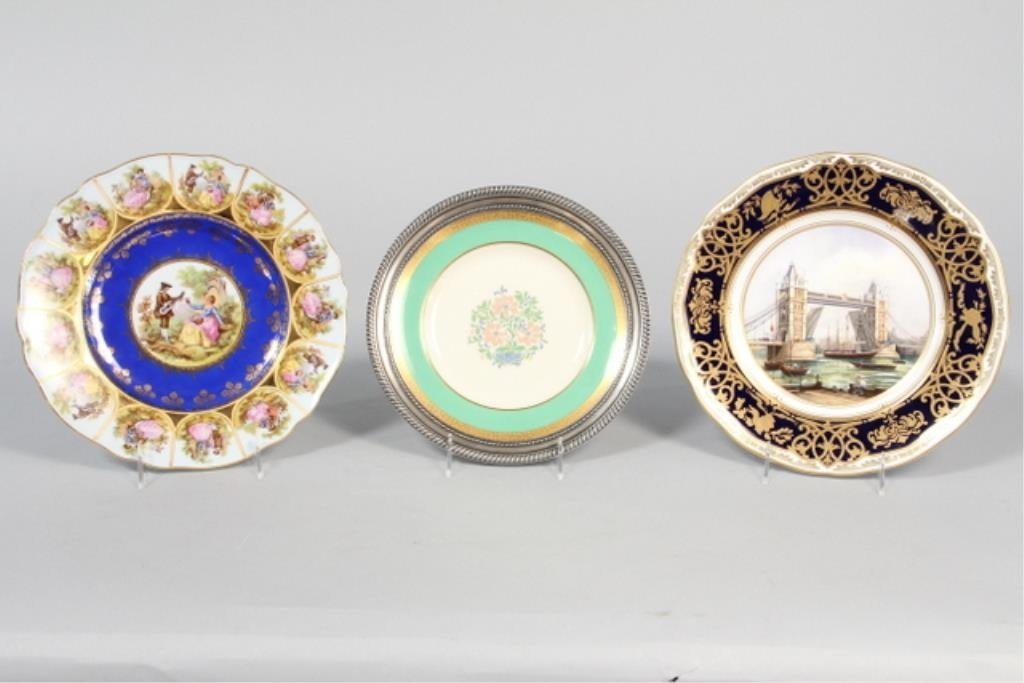 J19-1  Three Assorted Hand Painted Plates
