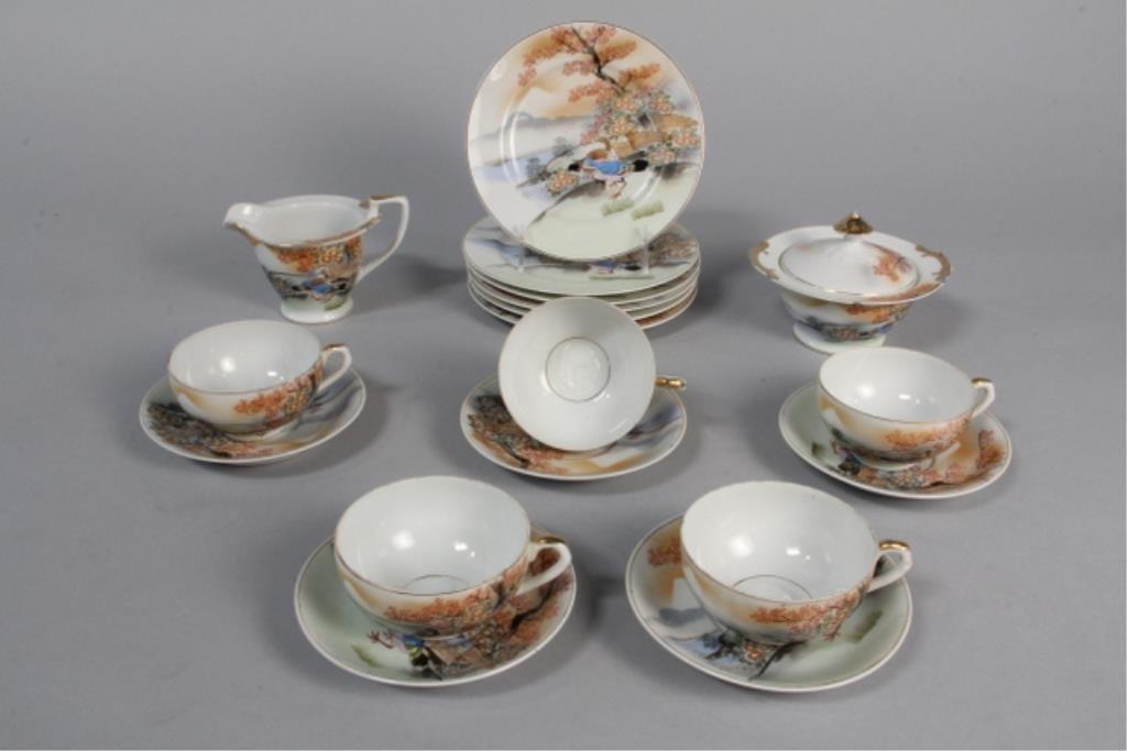 J19-3  Geisha Girl Lithopane Tea Set