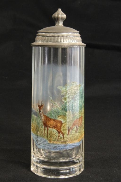 A45-29  German Hand Painted  Crystal Stein