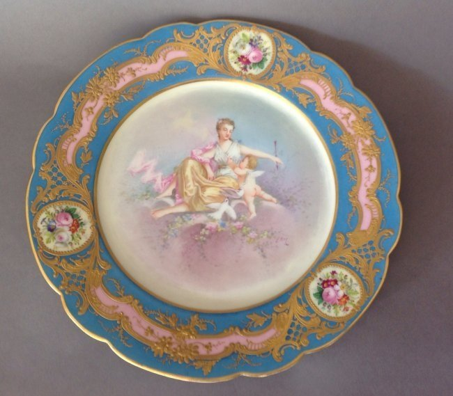 19TH CENTURY SEVRES PLATE