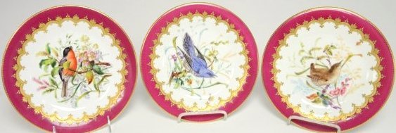 SET OF 12 TIFFANY & CO. HAND PAINTED PLATES - 2