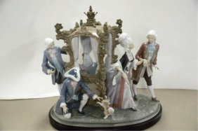 "LLADRO ""HER LADYSHIP"" PORCELAIN GROUP"