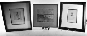THREE LITHOGRAPHS ARTIST SIGNED
