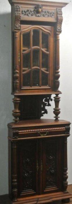 19TH CENTURY WALNUT CORNER CABINET