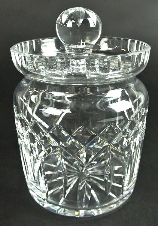 J34-10  SIGNED WATERFORD COVERED JAR