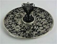 J7130  STERLING OVERLAY ROCKWELL DISH