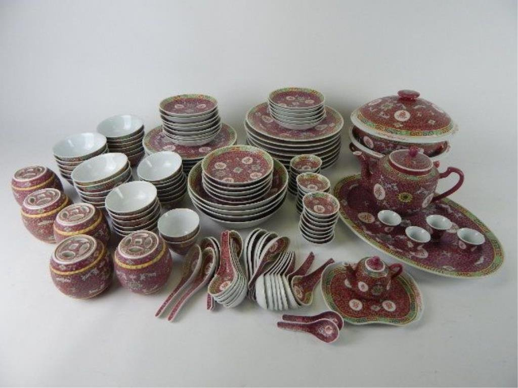 & J65-16 137 PIECES OF CHINESE DINNERWARE