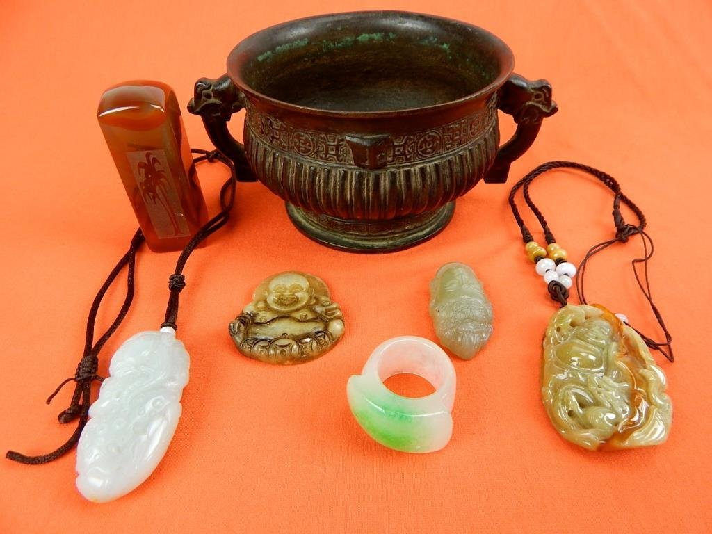 J74-3  GROUP OF 7 CHINESE ITEMS