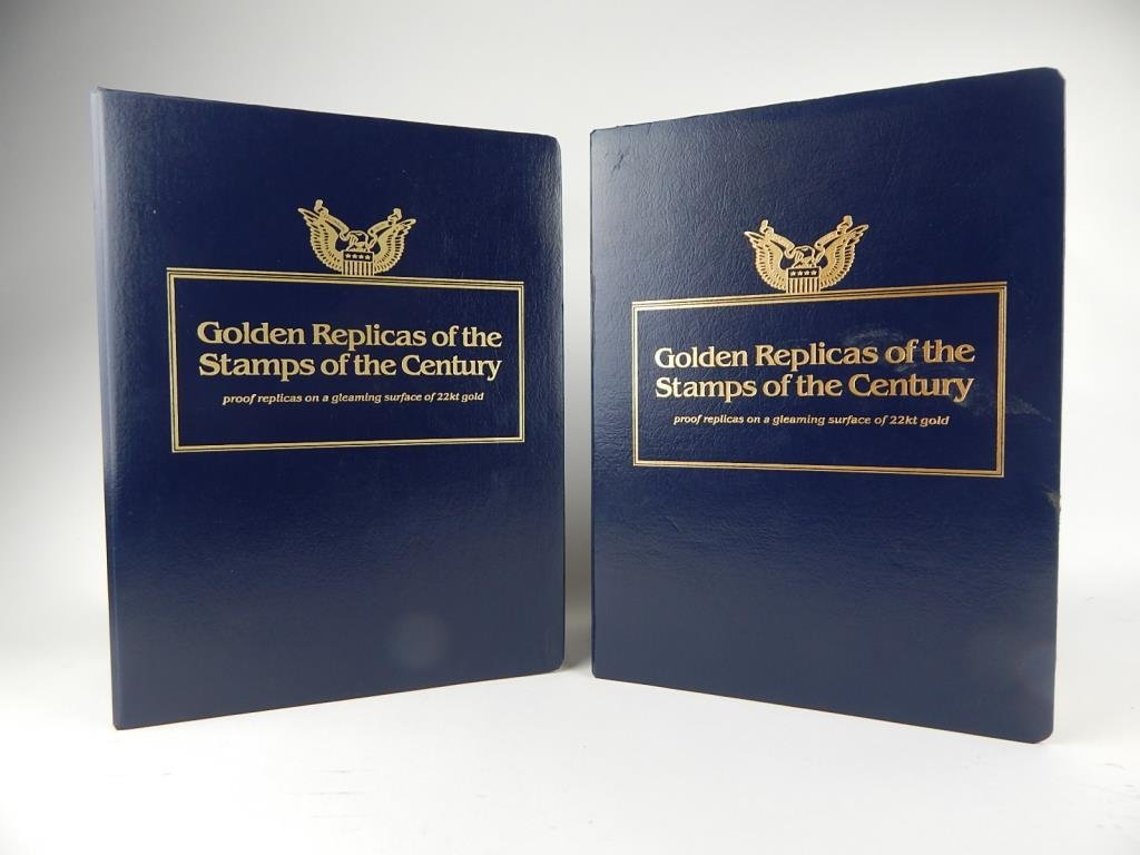 A76-19  TWO LARGE REPLICA STAMP PROOF BOOKS