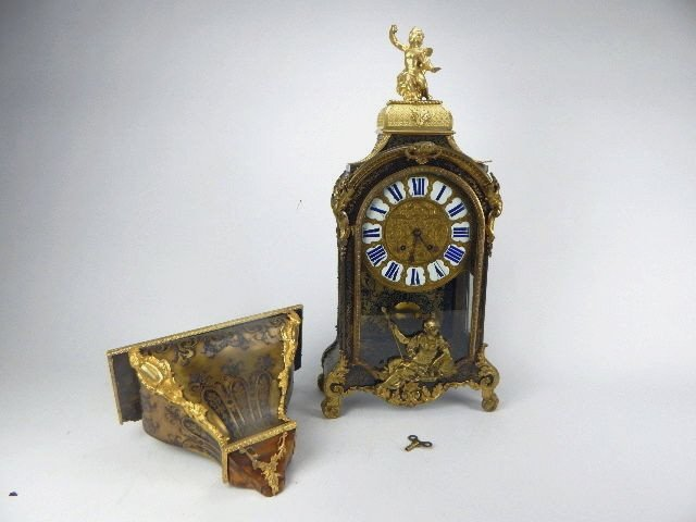 K19-1  LOUIS XIV BOULLE MARQUETRY BRACKET CLOCK