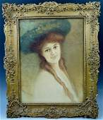 A448  WATERCOLOR ON BOARD IN ORNATE FRAME