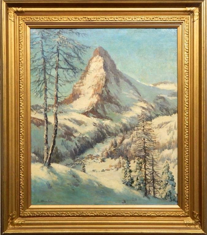 A45-5  ANTIQUE JACK WILKINSON SMITH OIL PAINTING