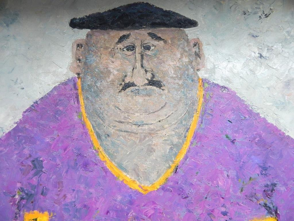 A45-3  LARGE RENE GALANT (1914-1997) OIL PAINTING - 2