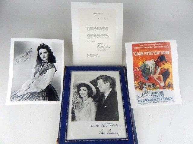 K34-7  JACQUELINE & JOHN KENNEDY SIGNED PHOTO