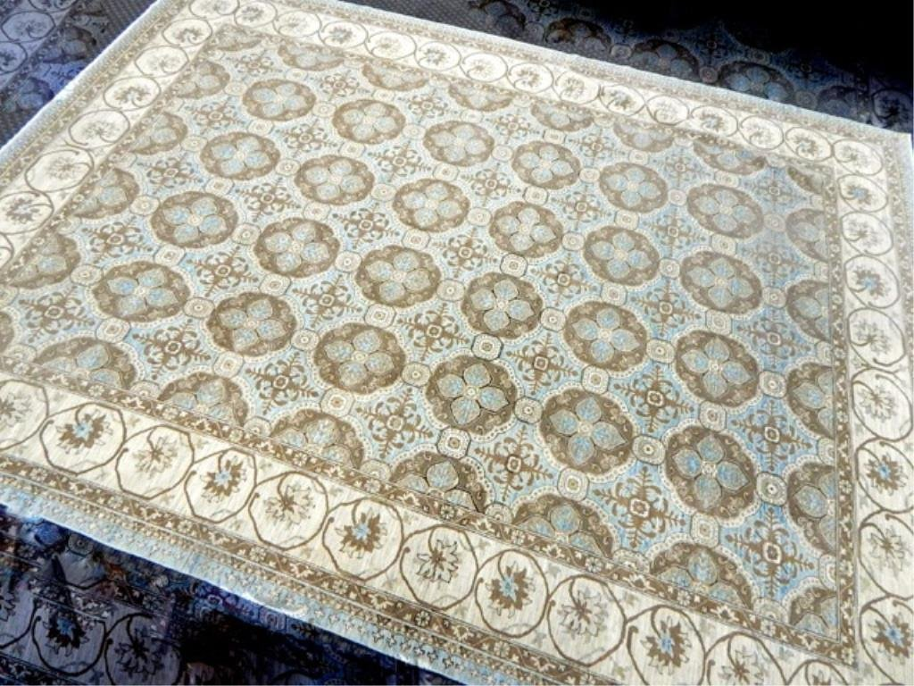 "K53-5  PAKISTAN HAND TIED WOOL RUG 13'4"" x 9'10"""