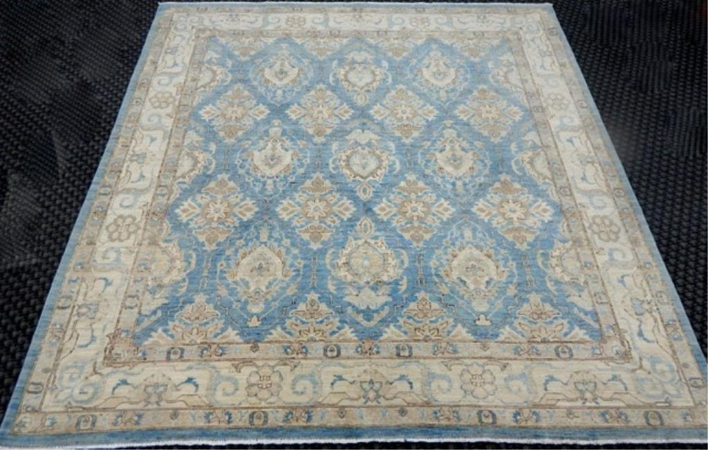 "K53-6  PAKISTAN HAND TIED WOOL RUG 7' 6"" x 8'"