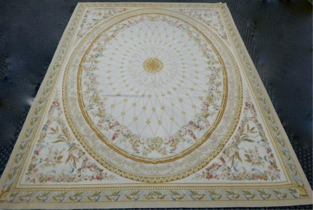 "K53-9  PAKISTAN HAND TIED WOOL RUG 7'10"" x 9' 8"""