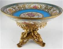 Sevres Style Porcelain Centerpiece