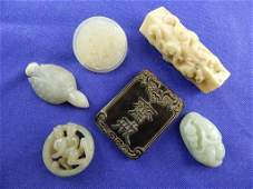 Six Chinese Jade and Stone Carvings