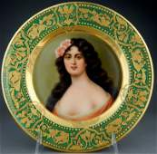 19th Century Royal Vienna Portrait Plate
