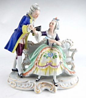 Dresden Porcelain Courting Couple Figurine