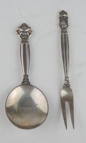 George Jensen Fork And Spoon
