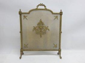 Gilt Bronze Fireplace Screen