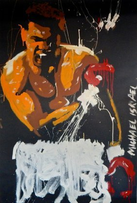 "Michael Israel ""ali-the Greatest"" Acrylic Artwork"